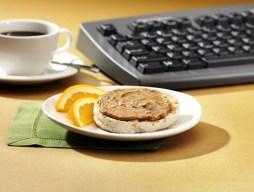 no stir almond butter & english muffin