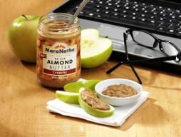 2 Tbsp. serving of MaraNatha No Stir Almond Butter, Creamy, with medium apple