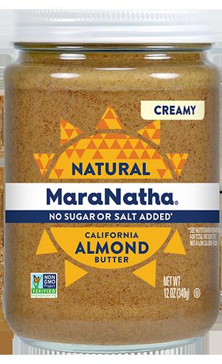 MaraNatha Almond Butter No Sugar or Salt Added Creamy