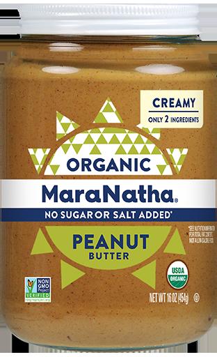 MaraNatha Peanut Butter Organic No Sugar or Salt Added Creamy
